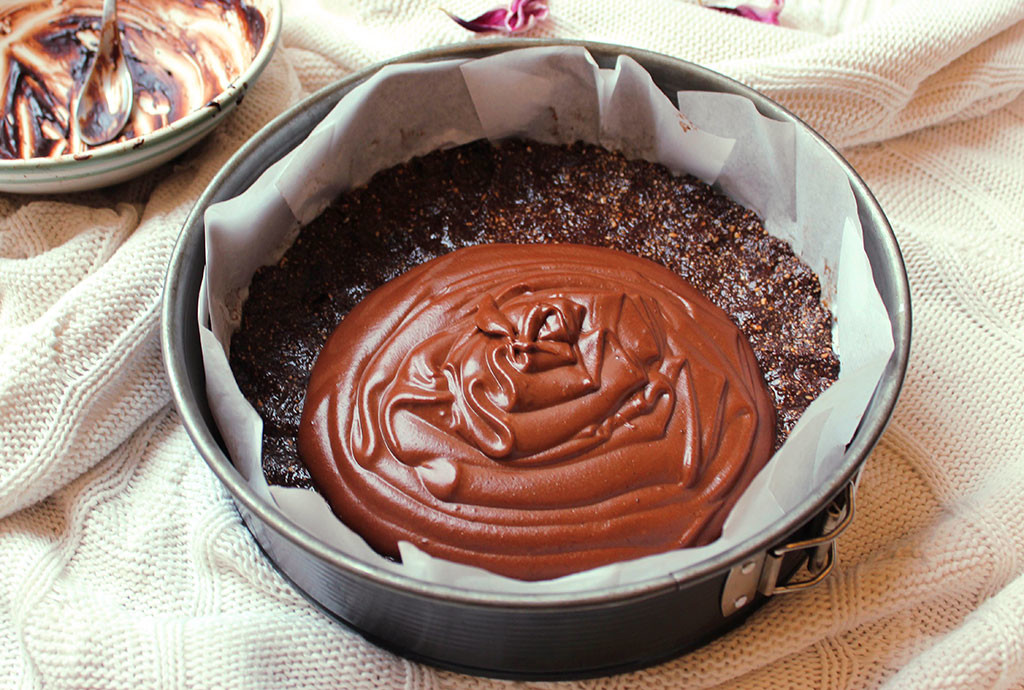Almost-Raw Chocolate Hazelnut Cake