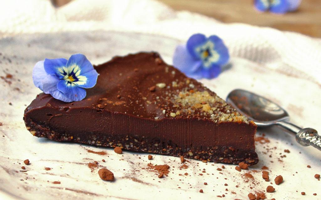 Almost-Raw Chocolate Hazelnut Cake