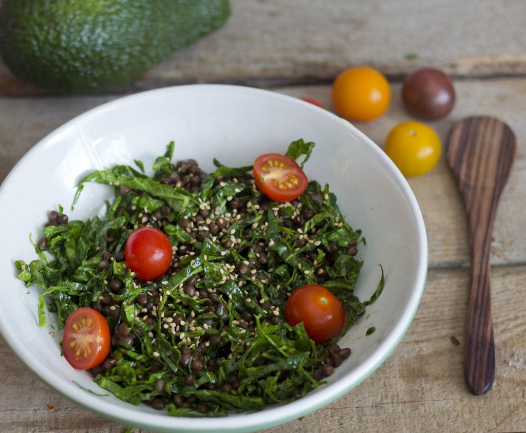 Beluga Lentil Kale Salad9