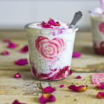Raspberry ripple chia pudding001