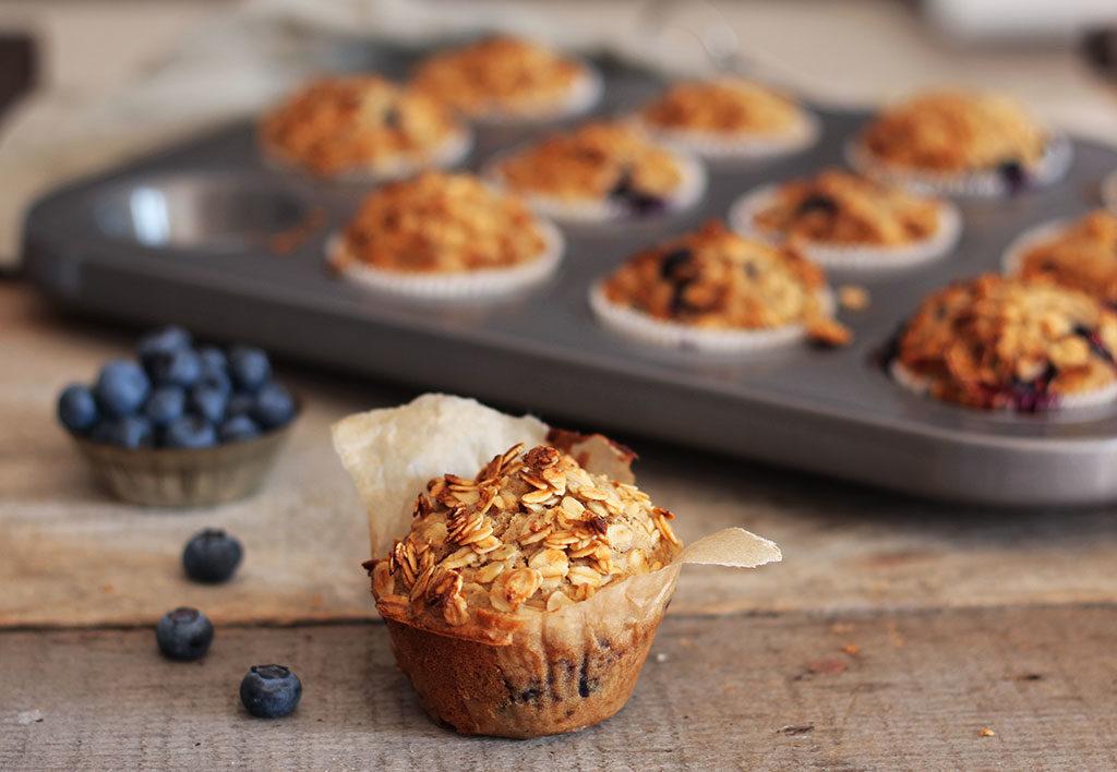 Blueberry-Vanilla-Muffins,vegan, refined sugar free, Maja Brekalo