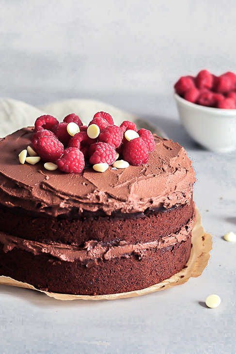 Chocolate Zucchini Birthday Cake, vegan, refined sugar free, Majaj Brekalo
