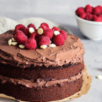 Chocolate Zucchini Birthday Cake, vegan, refined sugar free