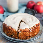 Apple Almond Cake, vegan with rice and spelt flour, Maja Brekalo