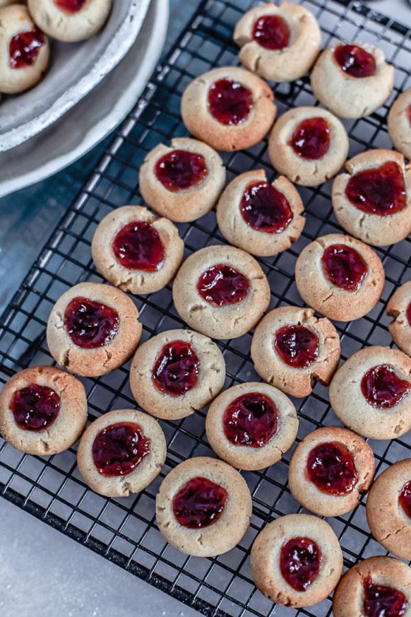 Rice Flour Thumbprint Cookies, gluten free, vegan, Maja Brekalo