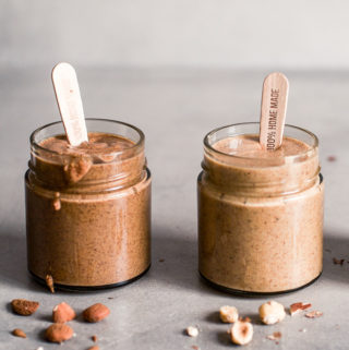 Almond and hazelnut butter in a jar, Maja Brekalo