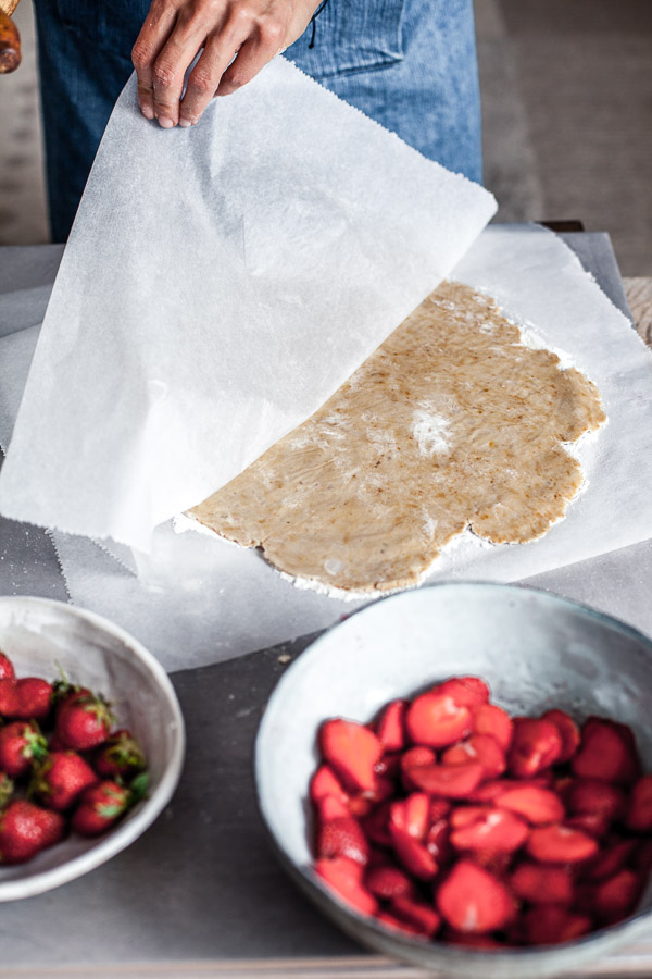 Making of strawberry galette, the rolled out dough, Maja Brekalo