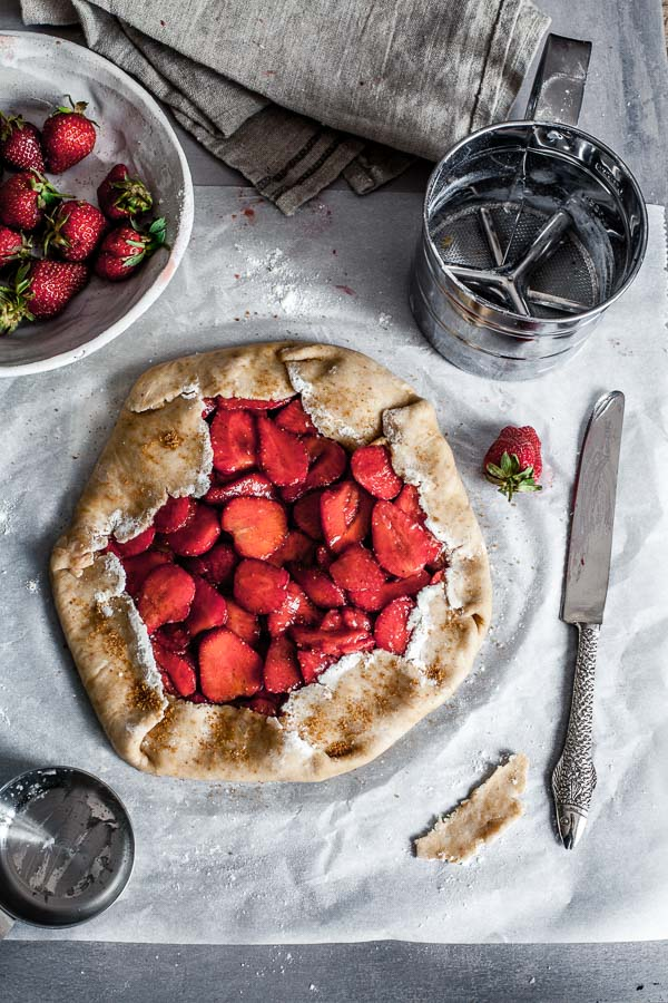 Making of strawberry galette, ready for baking, Maja Brekalo