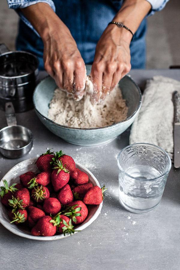 Making of strawberry galette, Maja brekalo