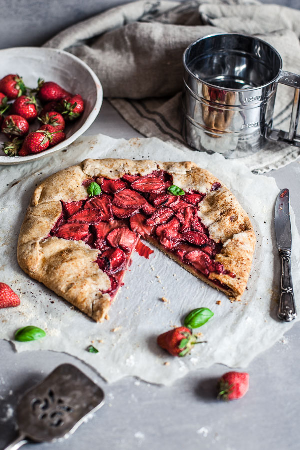 Rustic Vegan Strawberry Galette, Maja Brekalo
