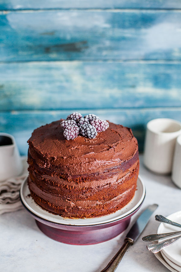Double Vegan Chocolate Cake a close up, Maja Brekalo