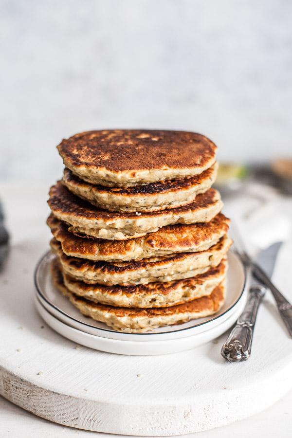 stack of vegan pancakes, maja brekalo